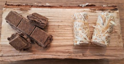 eco firelighters cubes and wood wool firelighters