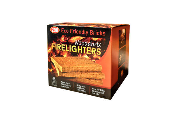 Woodabrix Natural Firelighters, Sustainable fire starters, Eco Fire starting blocks