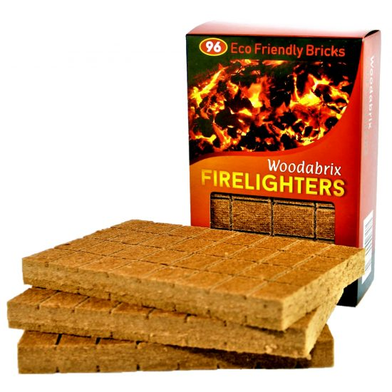 Woodabrix Natural Firelighters 96, Eco fire starting blocks
