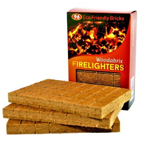 Woodabrix Natural Firelighters 96, Eco fire starting blocks